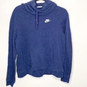 Nike Cowl Neck Hooded Speckled Blue Sweatshirt